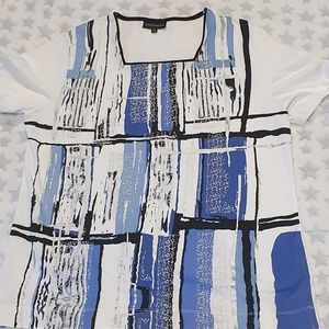Size 16 SPORTSWAVE white and blue t-shirt
